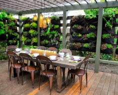 Artistic Outdoor Garden Dining Room