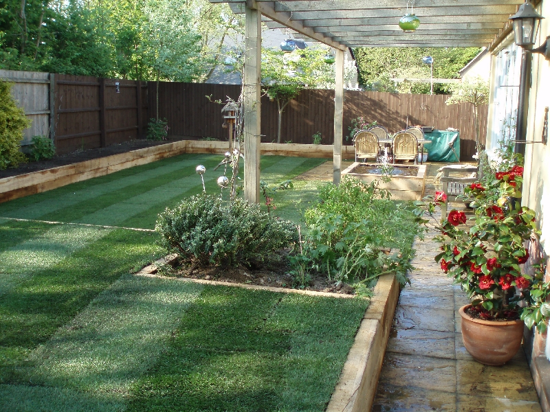 Backyard garden minimalist landscapes inspiration wilson for Back garden designs uk