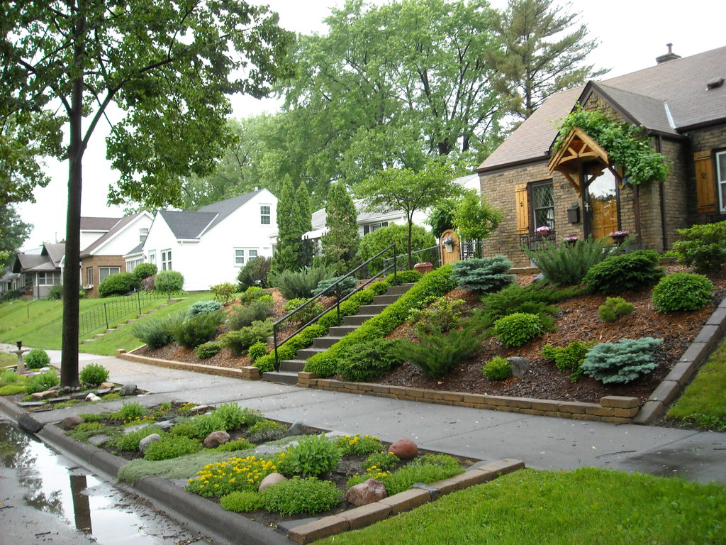 Great landscaping ideas for the front yard wilson rose House backyard landscape