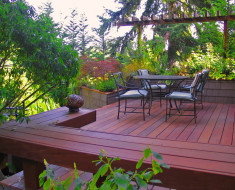 Private residence modern garden deck superb decor ideas