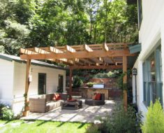 Small patio garden pergola
