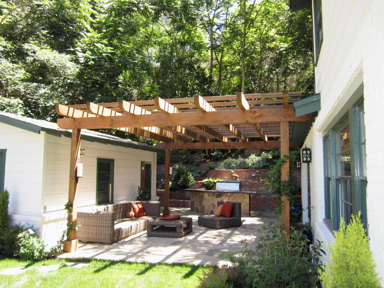 Small Patio Garden Pergola Traditional Landscape Exciting