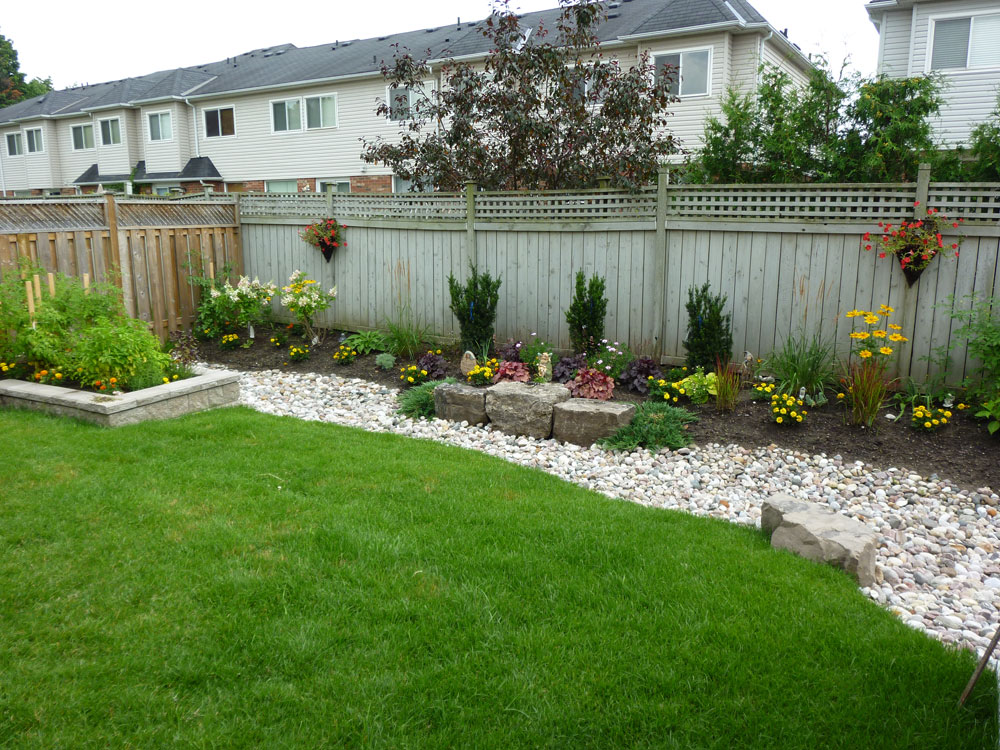 Backyard landscaping ideas with fencing wilson rose garden Backyard landscape photos ideas