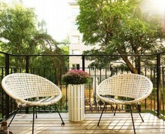 garden furniture wood balcony