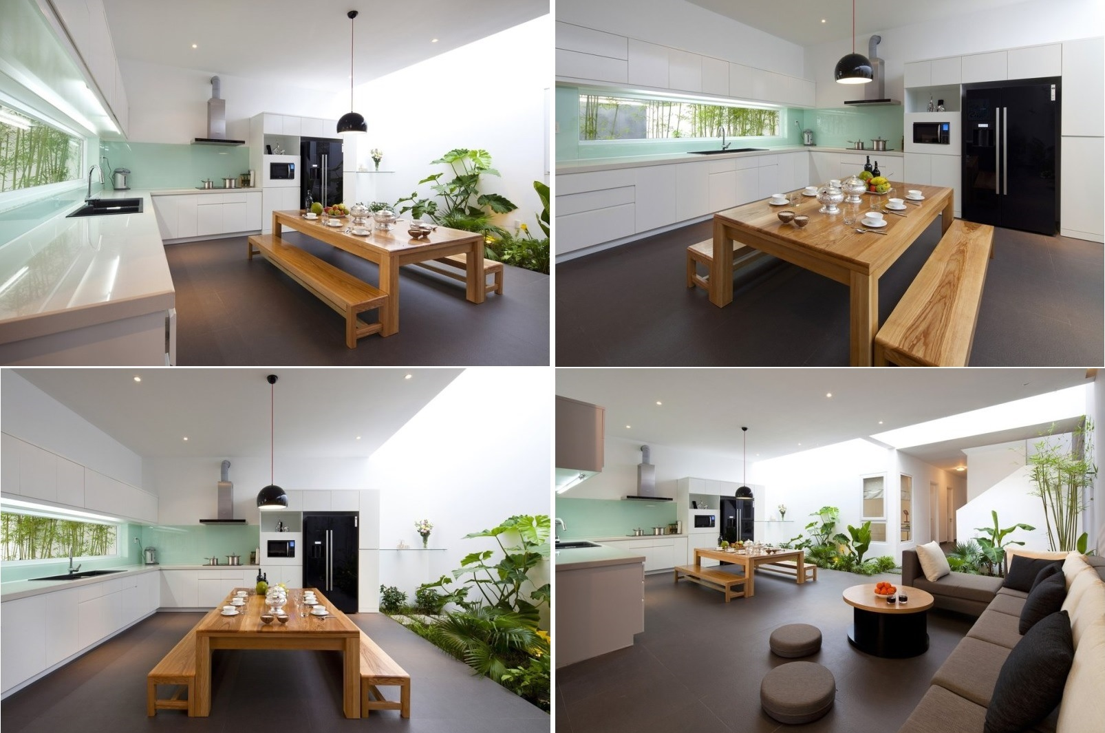 Minimalist house indoor garden kitchen inspiration for House and garden kitchen photos