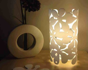 how to make a table lamp at home