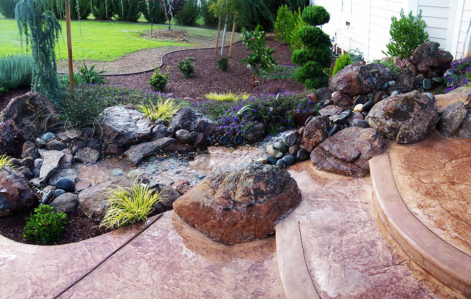 landscaping with rocks wilson garden
