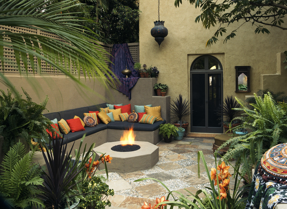 mediterranean garden decor picture