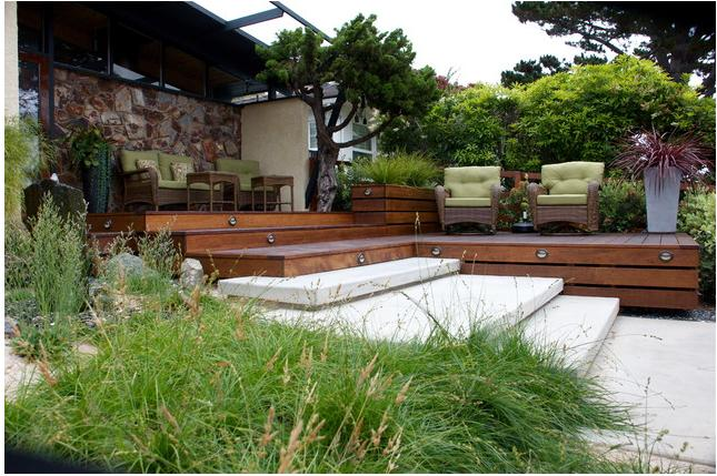 modern garden deck stylish decor ideas