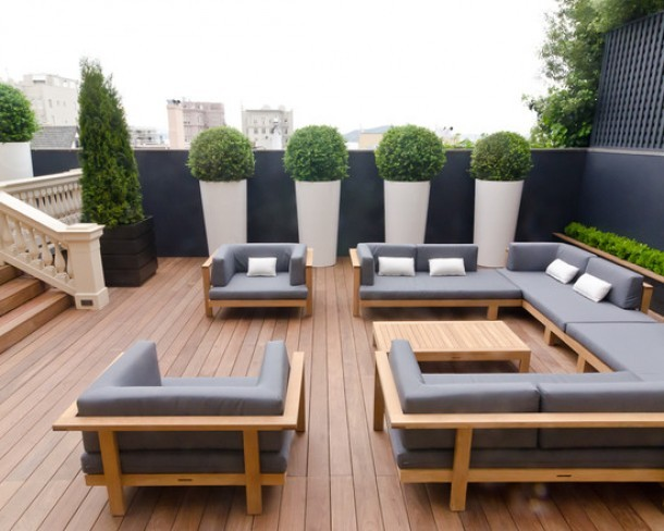 modern garden deck stylish