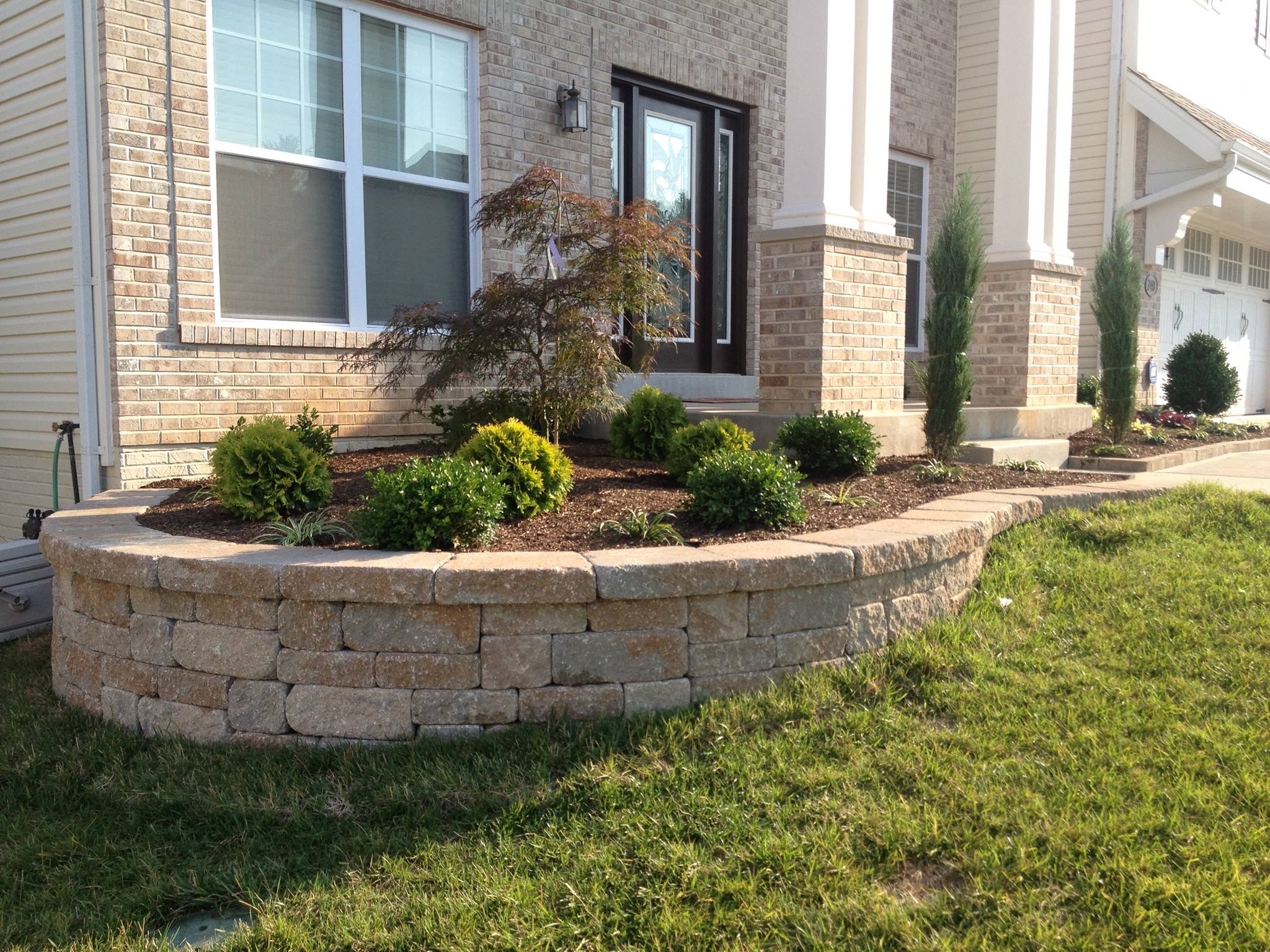 Retaining wall and its importance wilson rose garden Garden wall color ideas