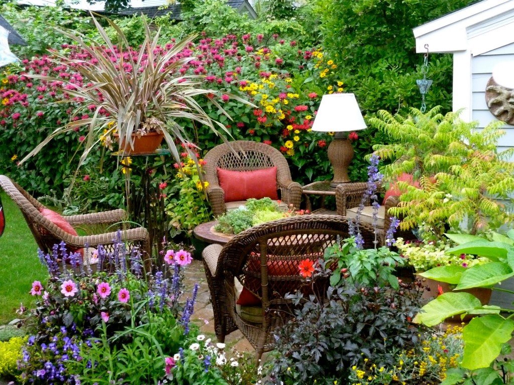 Small garden design with roses wilson rose garden for Small outdoor decorating ideas