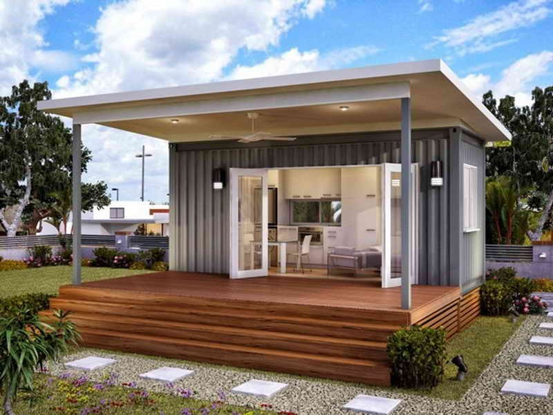 storage container homes small