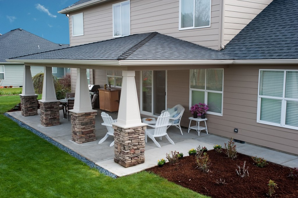 How To Design Idea Covered Back Patio? - Wilson Rose Garden on Patio Cover Decorating Ideas id=16620