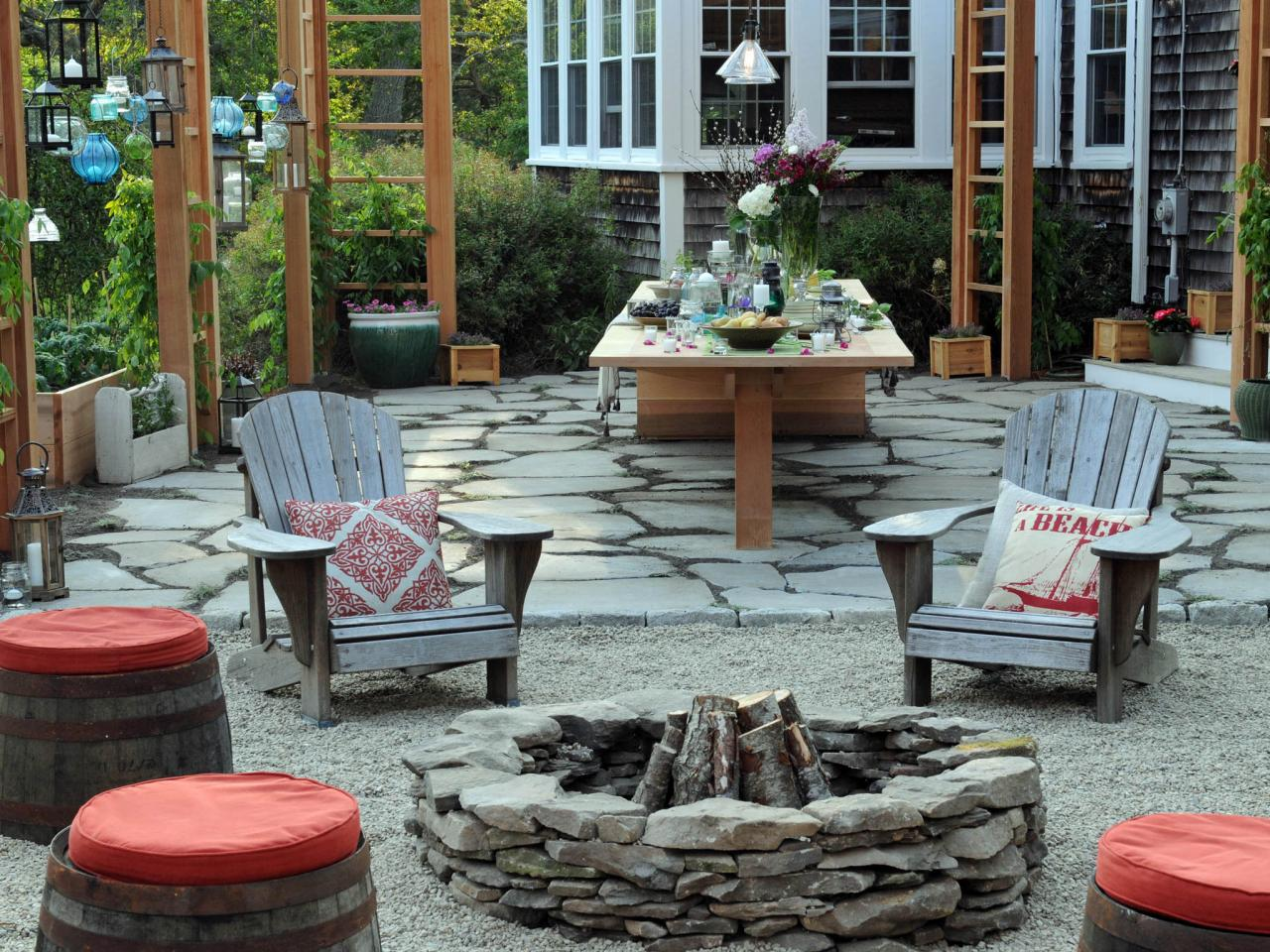 Fire Pit Design Ideas For Backyard Transformation - Wilson ... on Garden Ideas With Fire Pit id=27679