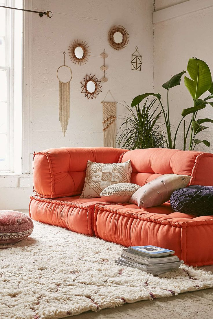 Floor cushion seating and its benefits wilson rose garden for Floor seating living room design