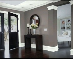 grey walls white trim what color curtains