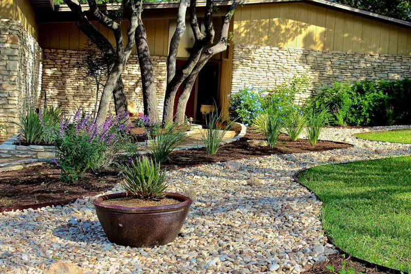 landscaping with rocks wilson